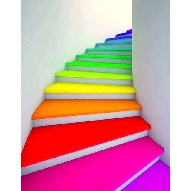 DIY Home Decor Project Ideas And Tips   21 Awesome Ideas Adding Rainbow  Colors To Your Home Décor. Interior Design, Home Decorating, Painting, How  To Paint, ...