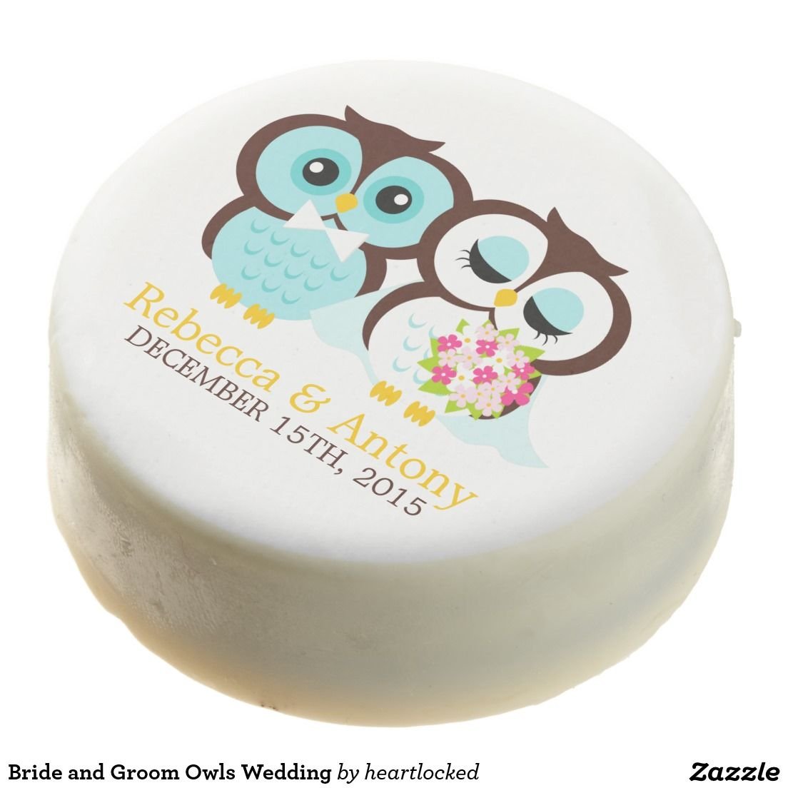 Bride and Groom Owls Wedding Chocolate Covered Oreo | Wedding ...