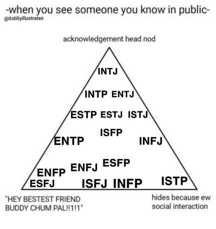 Made A Triangle Meme Isfj Isfj Esfj Infj Enfj Isfp Esfp Intj Entj Istj Estj Enfp Infp Istp Esfp Intp Entp Enfp And Infj Mbti Mbti Personality