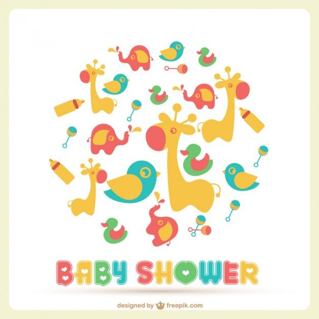 Baby Shower Vector Template Kids Stuff Pinterest