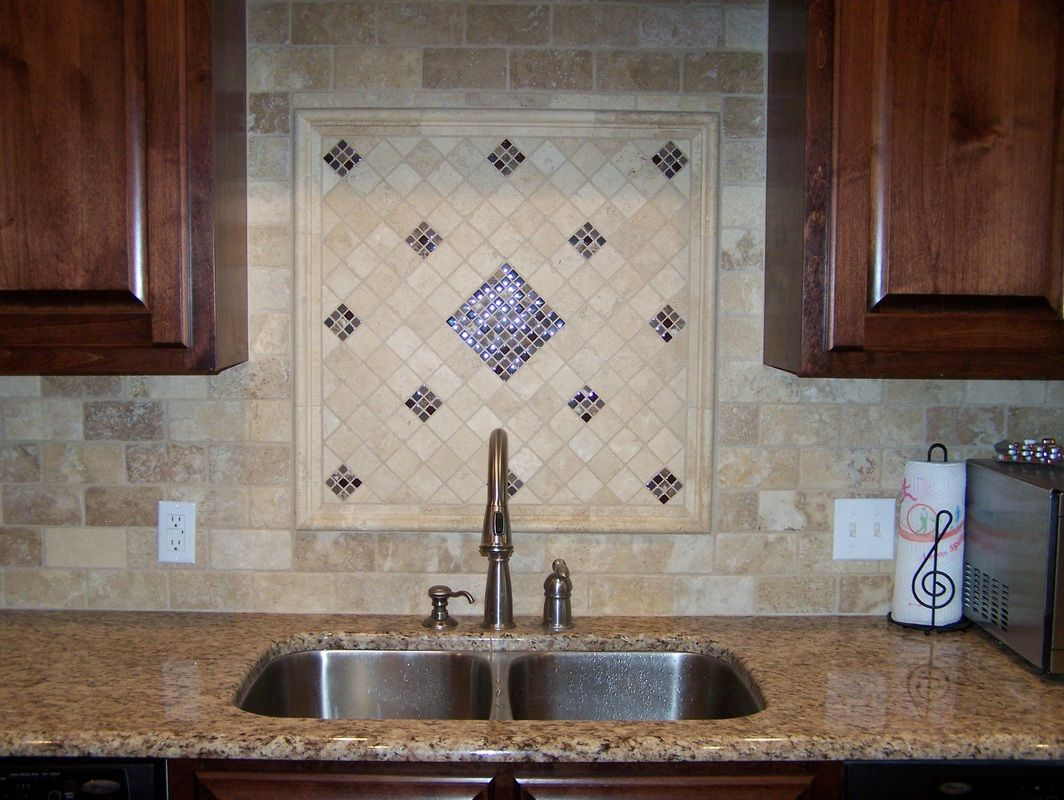 Backsplash We Actually Ended Up With Travertine Subway Tile Square And Picture