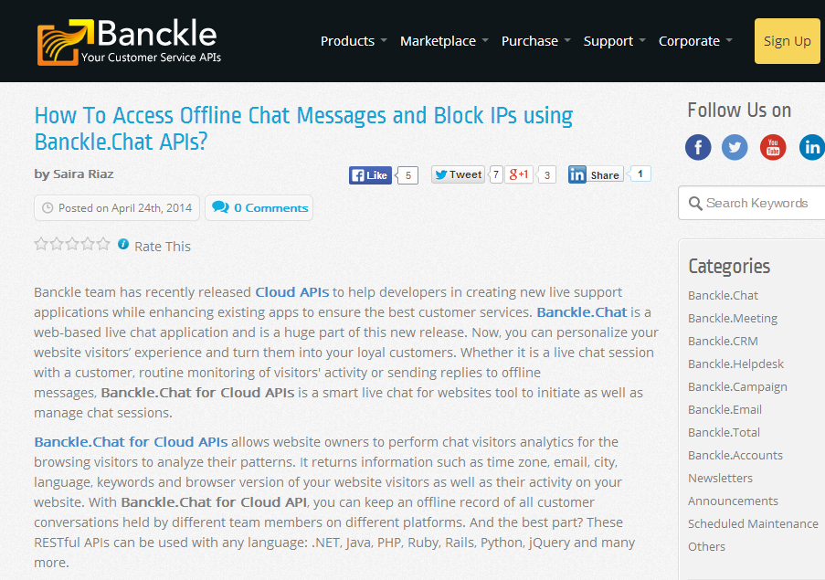 Banckle Cloud Api For Live Chat Allows Developers To Create Their Own Live Chat Application For Their Websites And Corporate Signs Online Business Development