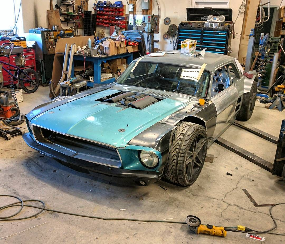 Custom 1967 Mustang On A Chis With C5 Corvette Train