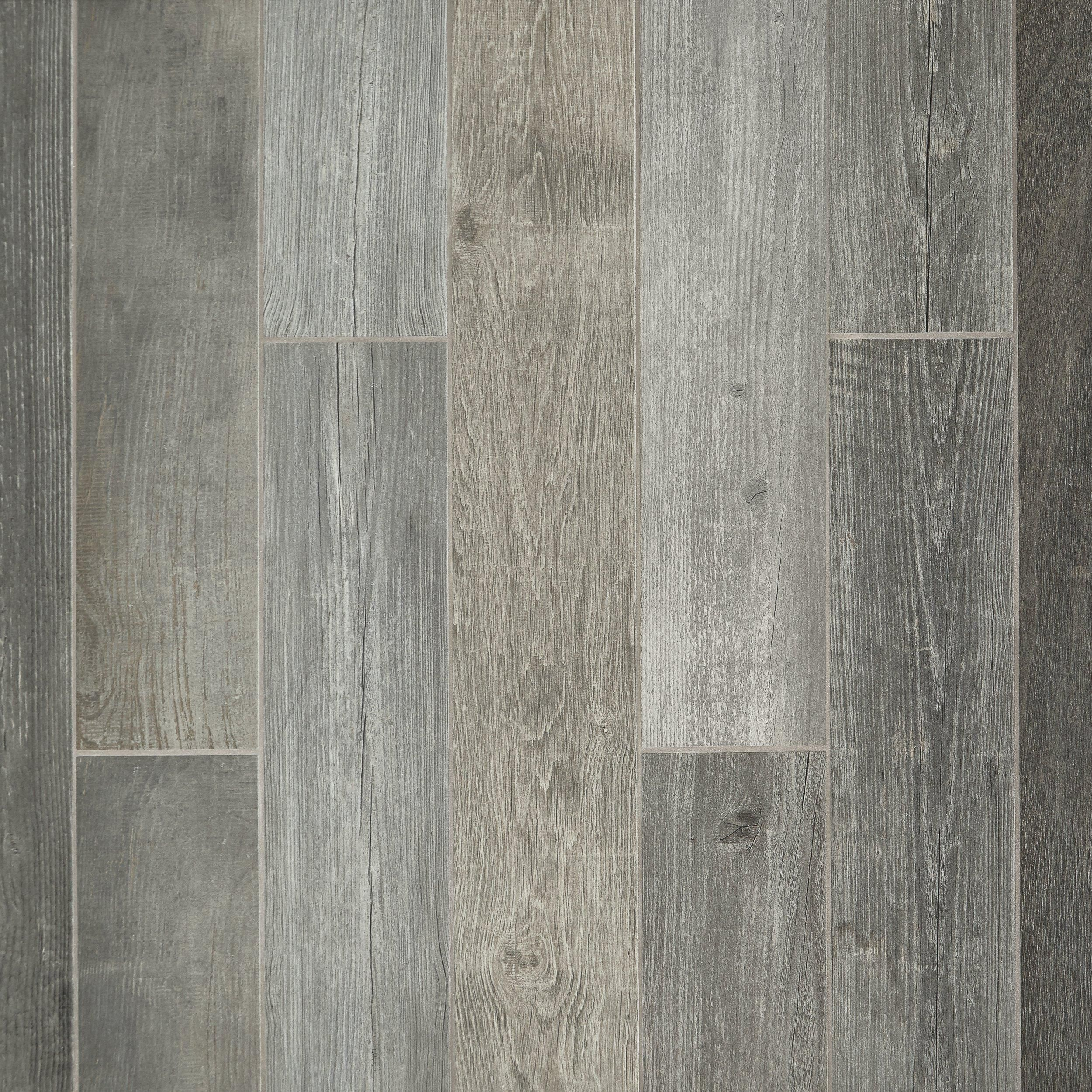Grey Wood Plank Porcelain Tile