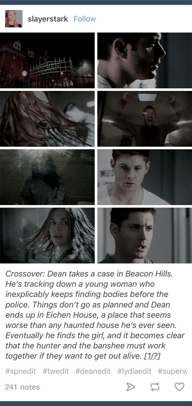 Superwolf; Supernatural; Teen Wolf; crossover; Lydia Martin; Dean Winchester; Eichen House