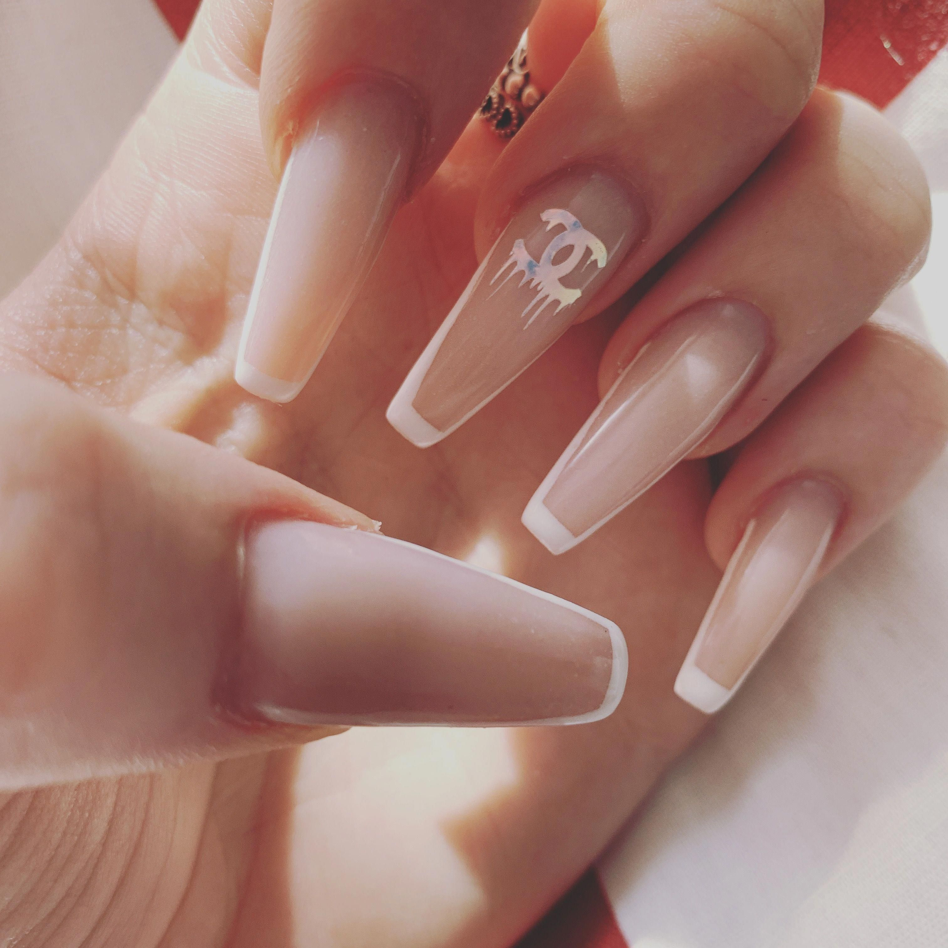 Pin On White Acrylic Nails