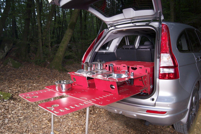 Swissroombox Car Camper Conversion Kit Gets Streamlined Car Camper Honda Crv Honda Fit Camper