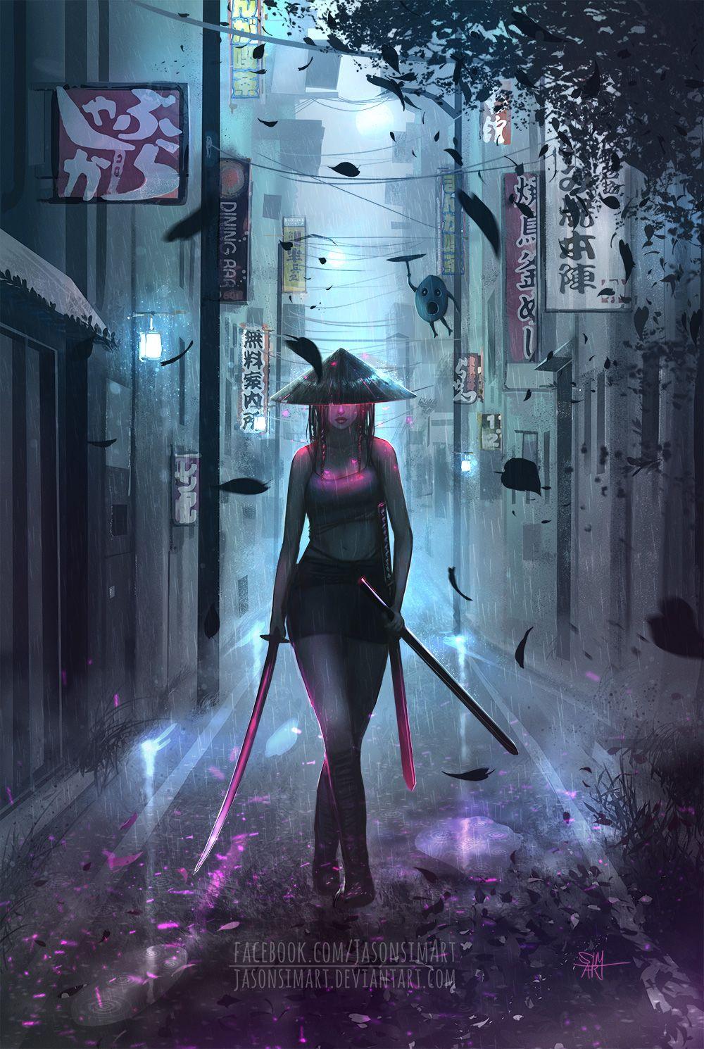 Https Jasonsimart Deviantart Com Art Samurai Girl 730716937 Samurai Anime Samurai Wallpaper Samurai Artwork
