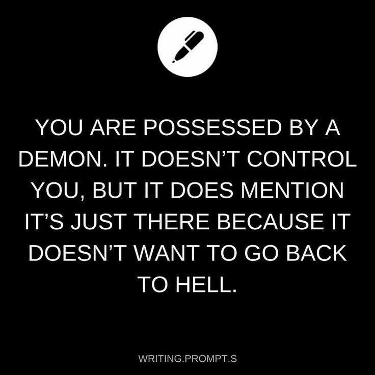 Oder: es will zurück in die Hölle weil es bei dir schlimmer ist, kommt es aber nicht #lifestories