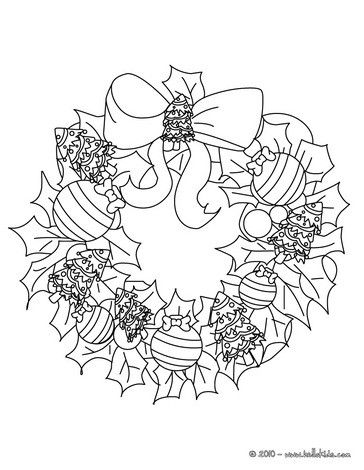 christmas garland coloring pages flowers and stars wreath
