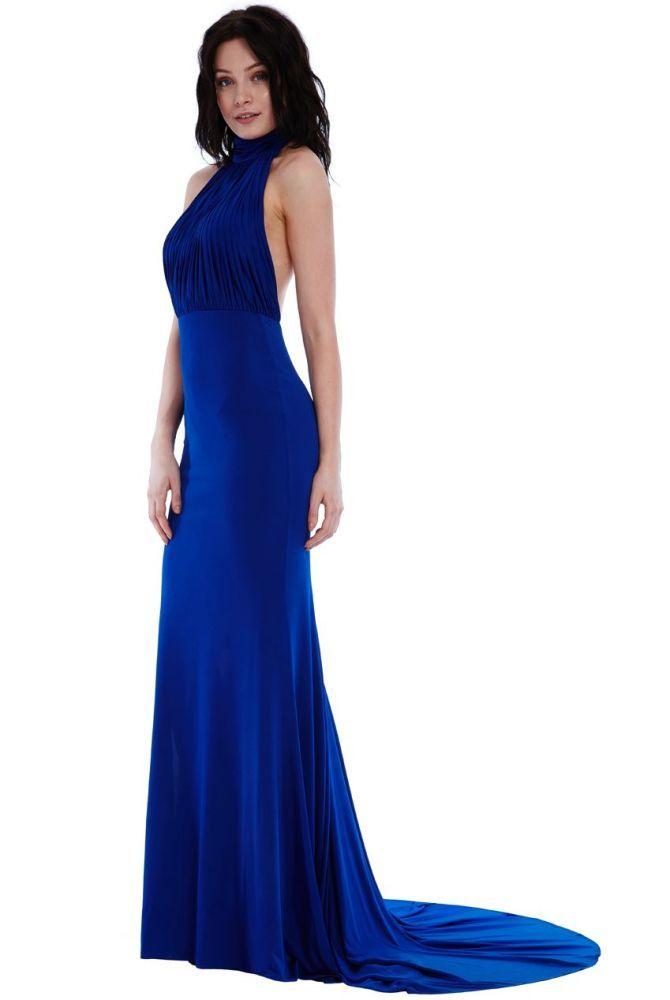 Calista Royal Blue Halter Neck Mermaid Maxi Dress   prom   Pinterest ...