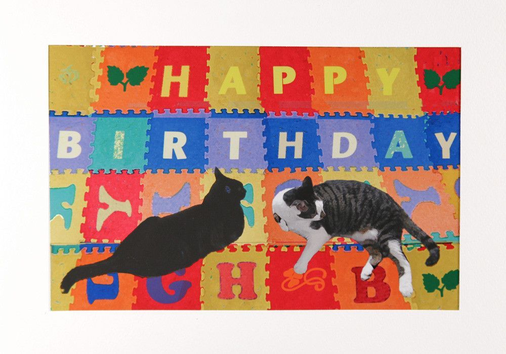 Cats Alphabet Cat Birthday Cards