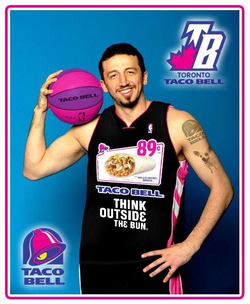 Ads on NBA jerseys - Toronto Taco Bell | Nba jersey, Nfl jerseys ...