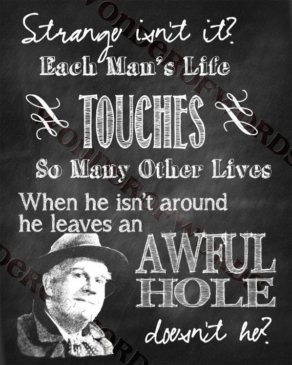 Itu0027s A Wonderful Life Clarence Quote By WonderofWords On Etsy, ...