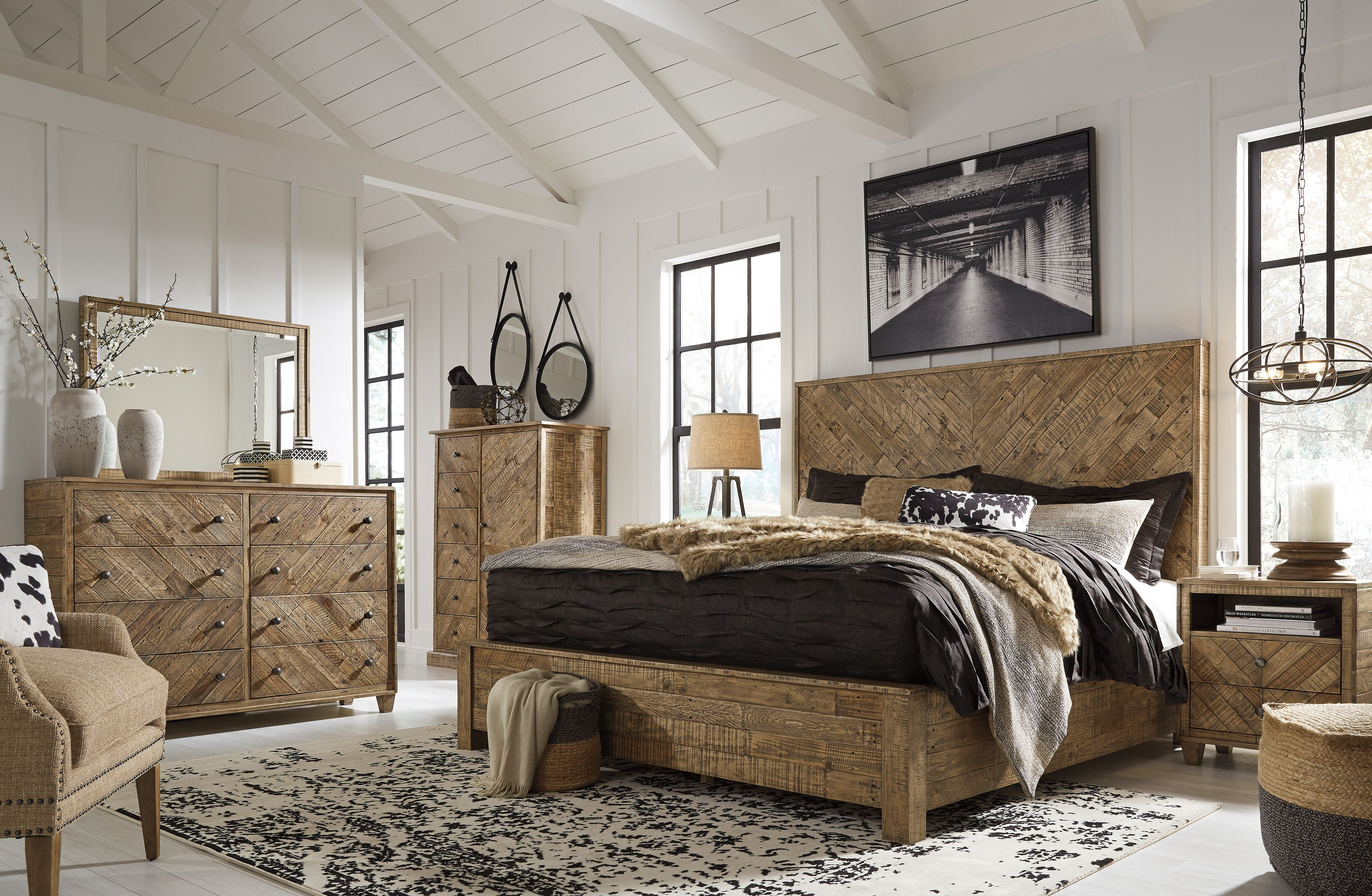 King 6pc Bedroom Set At Lucas Furniture In 2020 Light Brown Bedrooms King Bedroom Sets Bedroom Set