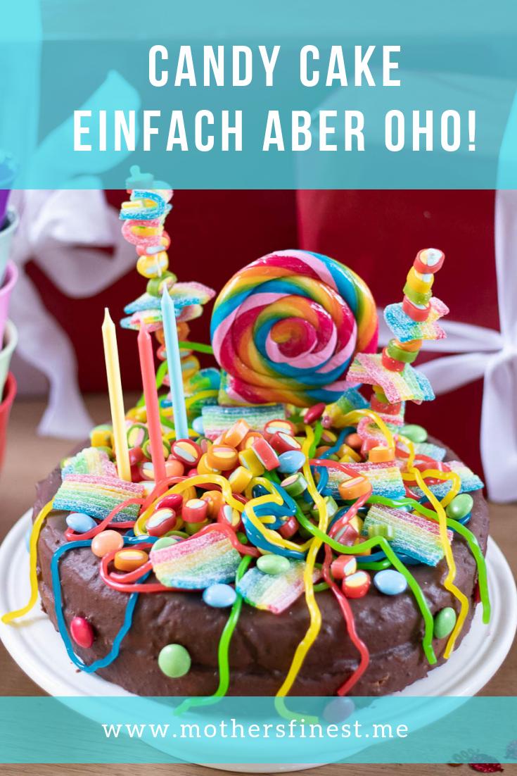 Candy Cake, was ist das? Einfach den liebsten Süßkram auf einer Torte dekorieren. Die Kinder lieben es! Eh klar! #tortendekorieren