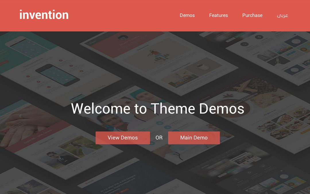 Invention - Responsive Multi-Purpose WordPress Theme | Flat