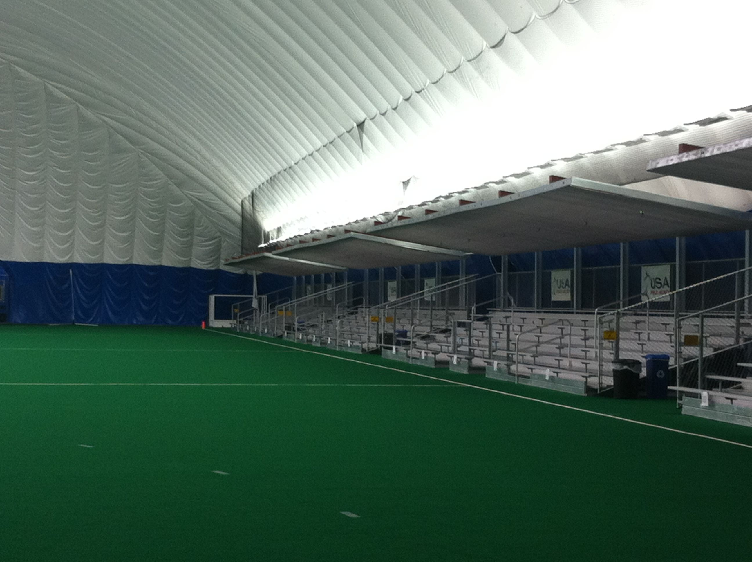 The Bleachers Inside The Dome For Spectators Spooky Nook Sports Sports Complex Spooky Nook