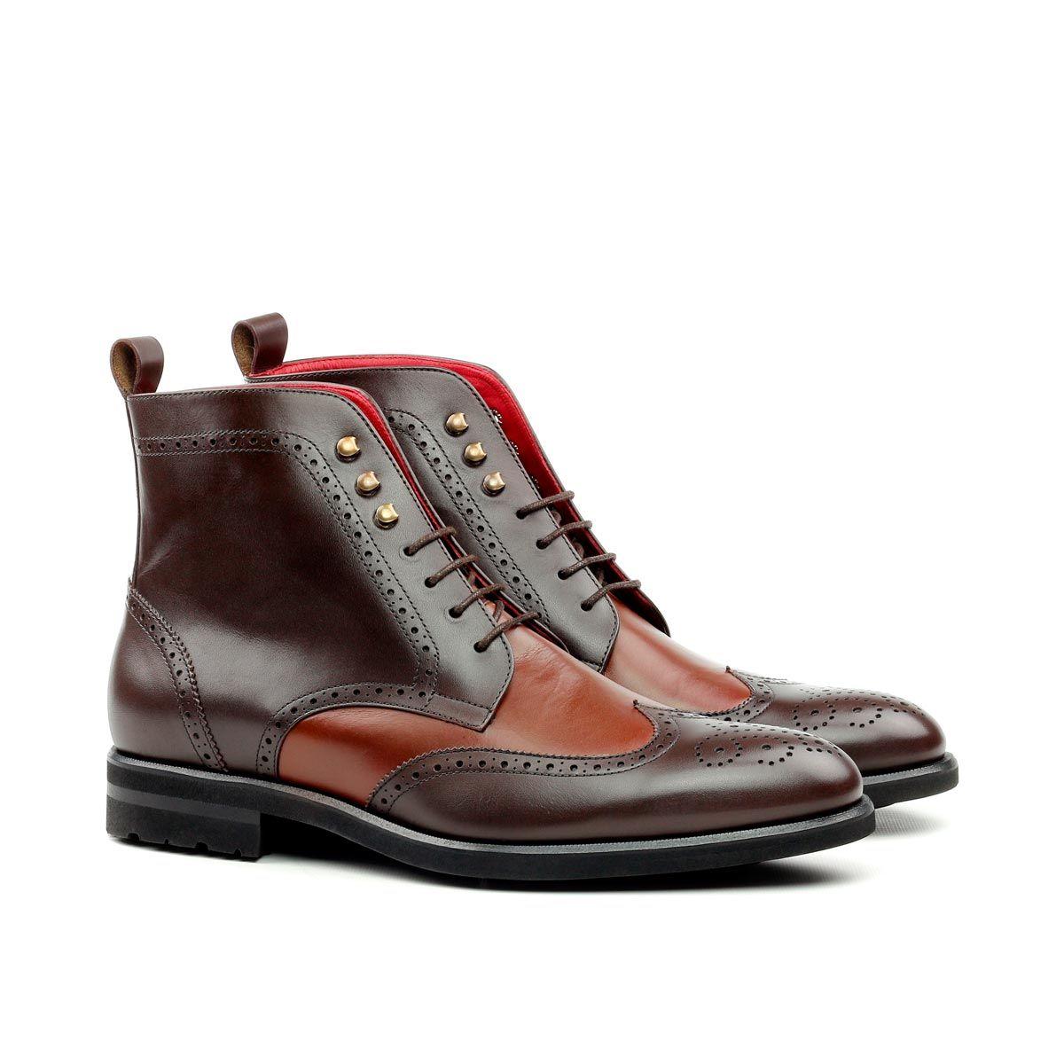 Custom Made Men's Military Brogue Boots