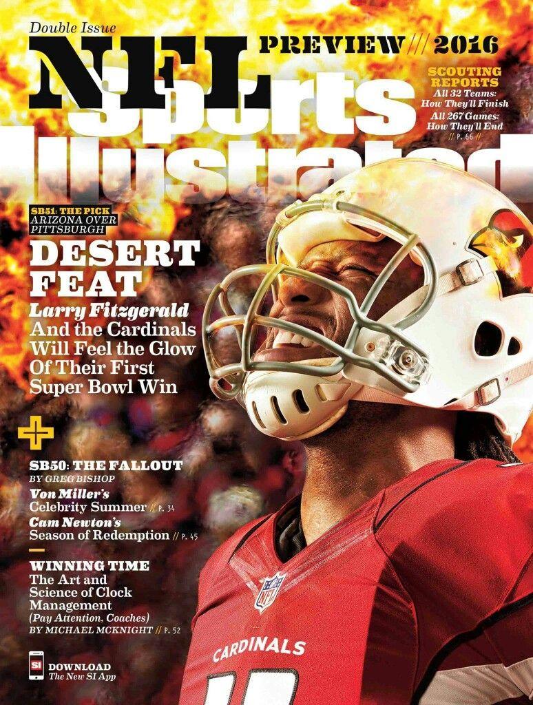 Pin By Kristal Allen On I Love Larry Fitzgerald Larry Fitzgerald Sports Illustrated Arizona Cardinals Football