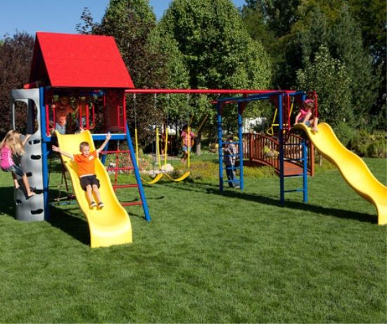 lifetime do it yourself double slide deluxe playset primary colors this is - Lifetime Adventure Tower Playset