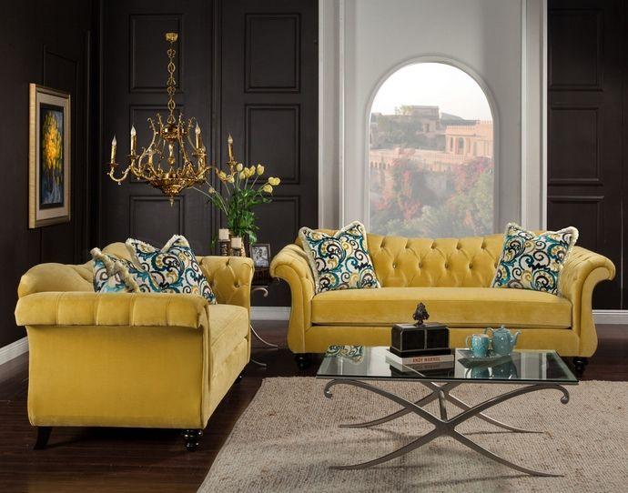 sm2223 2 pc antoinette royal yellow premium fabric crystal