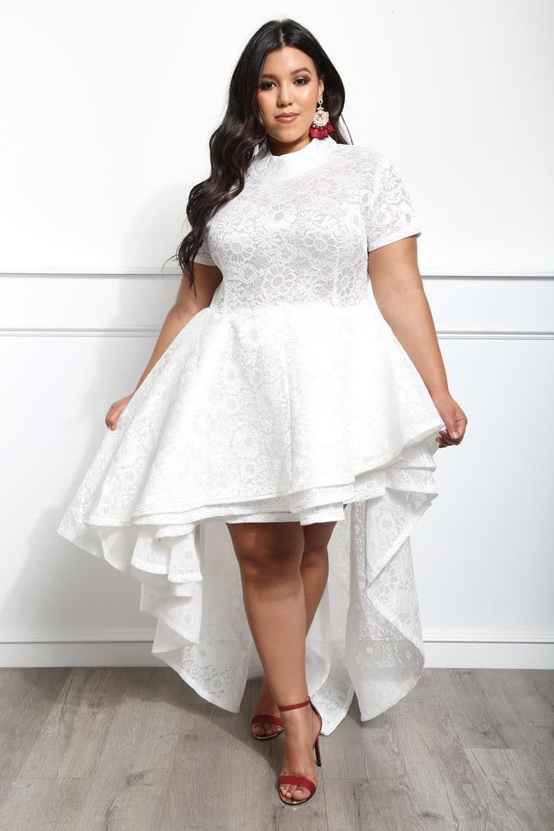 FEEL THE BLOOM PLUS SIZE HIGH-LOW DRESS  81.99  45a1727fa3c1