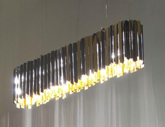 Nella vetrina innermost facet lonzenge 107 chandelier luxury modern italian stainless steel