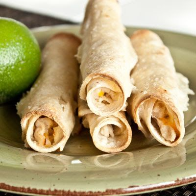 Honey lime baked chicken taquitos