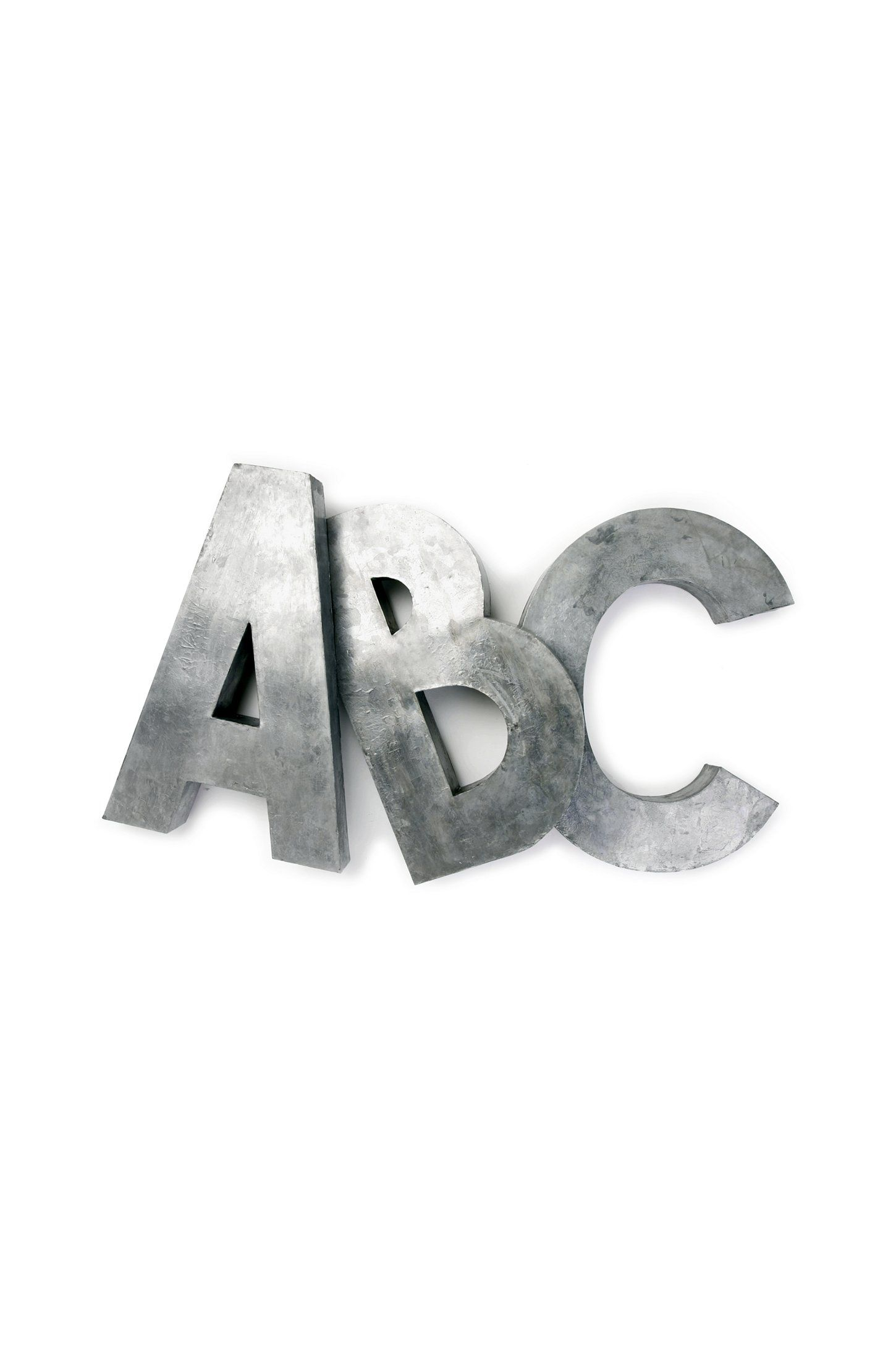 Cheap Metal Letters Oversized Zinc Letters  Study Areas Workspaces And Interiors