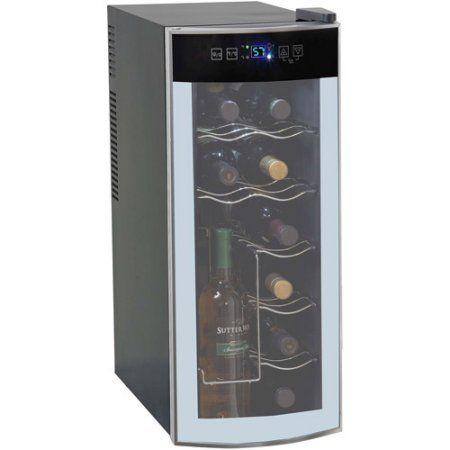 Wine Enthusiast Silent 12 Bottle Wine Refrigerator Stainless