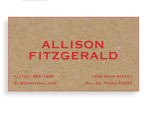 Design online luxury business cards red foil stamping on thick design online luxury business cards red foil stamping on thick recycled craft board and painted reheart Gallery