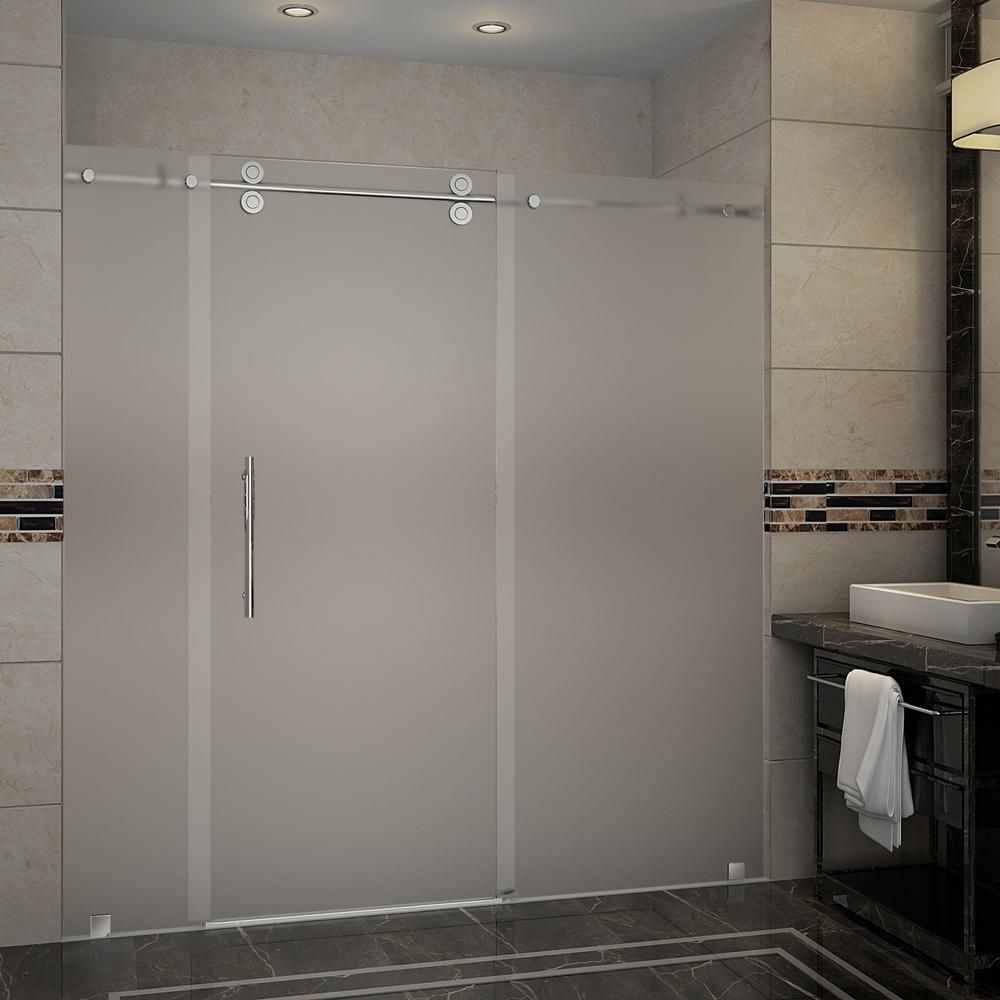 Aston Langham 72 In X 75 In Completely Frameless Sliding Shower