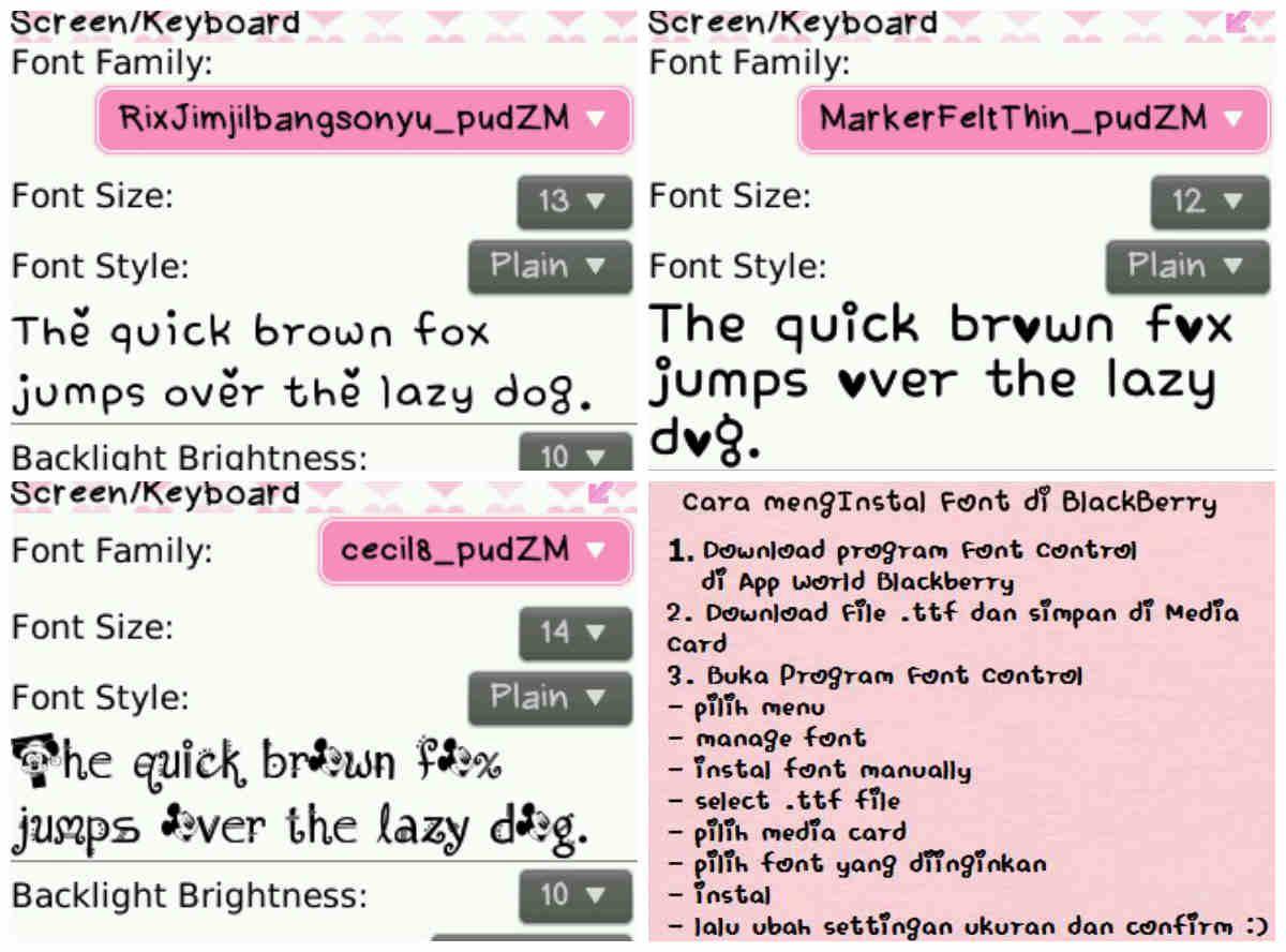 Font Blackberry Lucu Unik Terbaru Postekno Pinterest