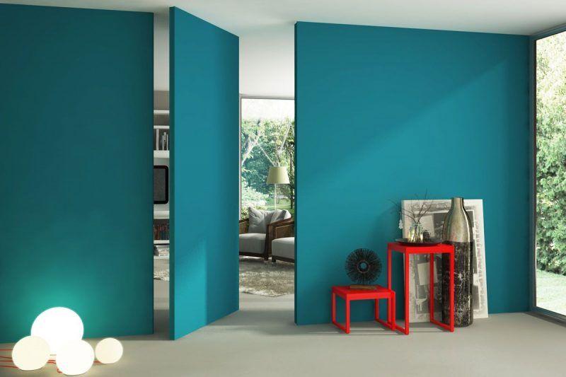 Muro azul turquesa