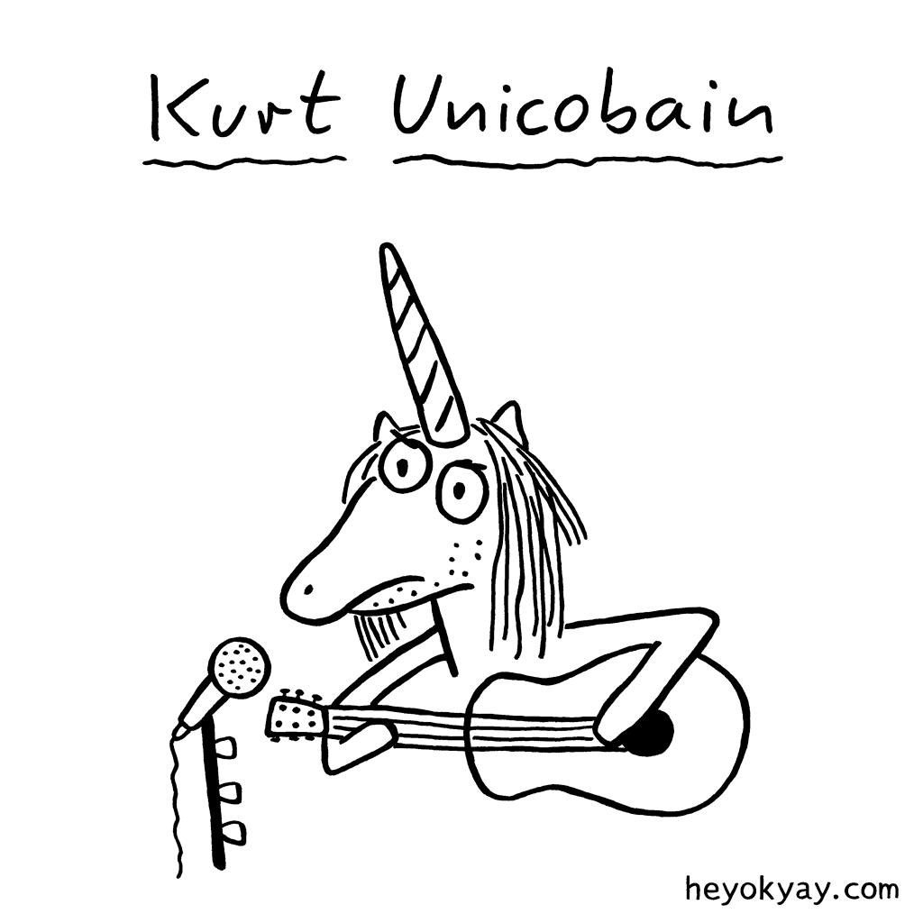 Kurt Unicobain | #nirvana #kurtcobain #grunge #unicorn #heyokyay