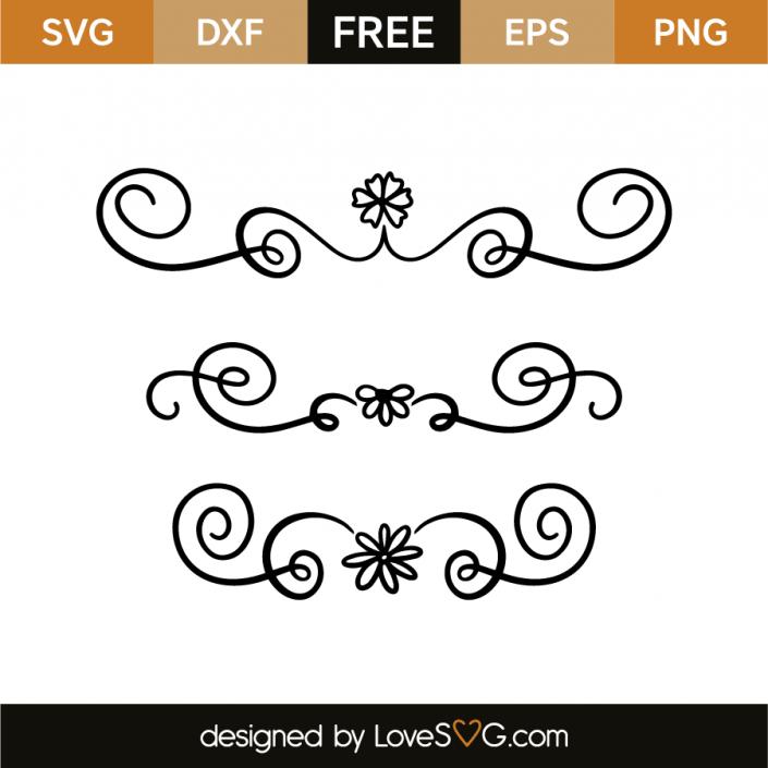 Decorative Elements Cricut Crafts Printable Patterns Elements