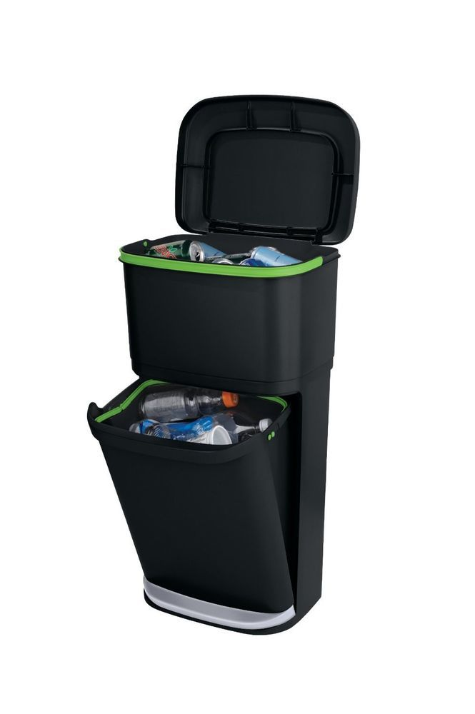 Trash Bin Garbage Can Waste Office Liner Dual Tower Kitchen Room ...