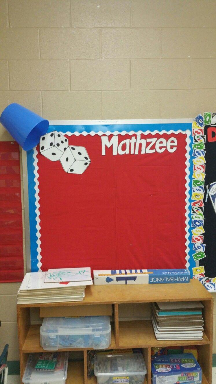 Yahtzee   mathzee my math content area wall  Used a Dollar