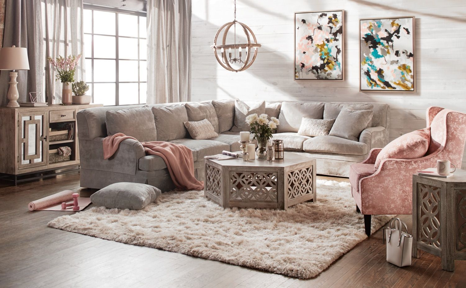 campbell comfort 2 piece sectional with left facing sofa cement rh pinterest com