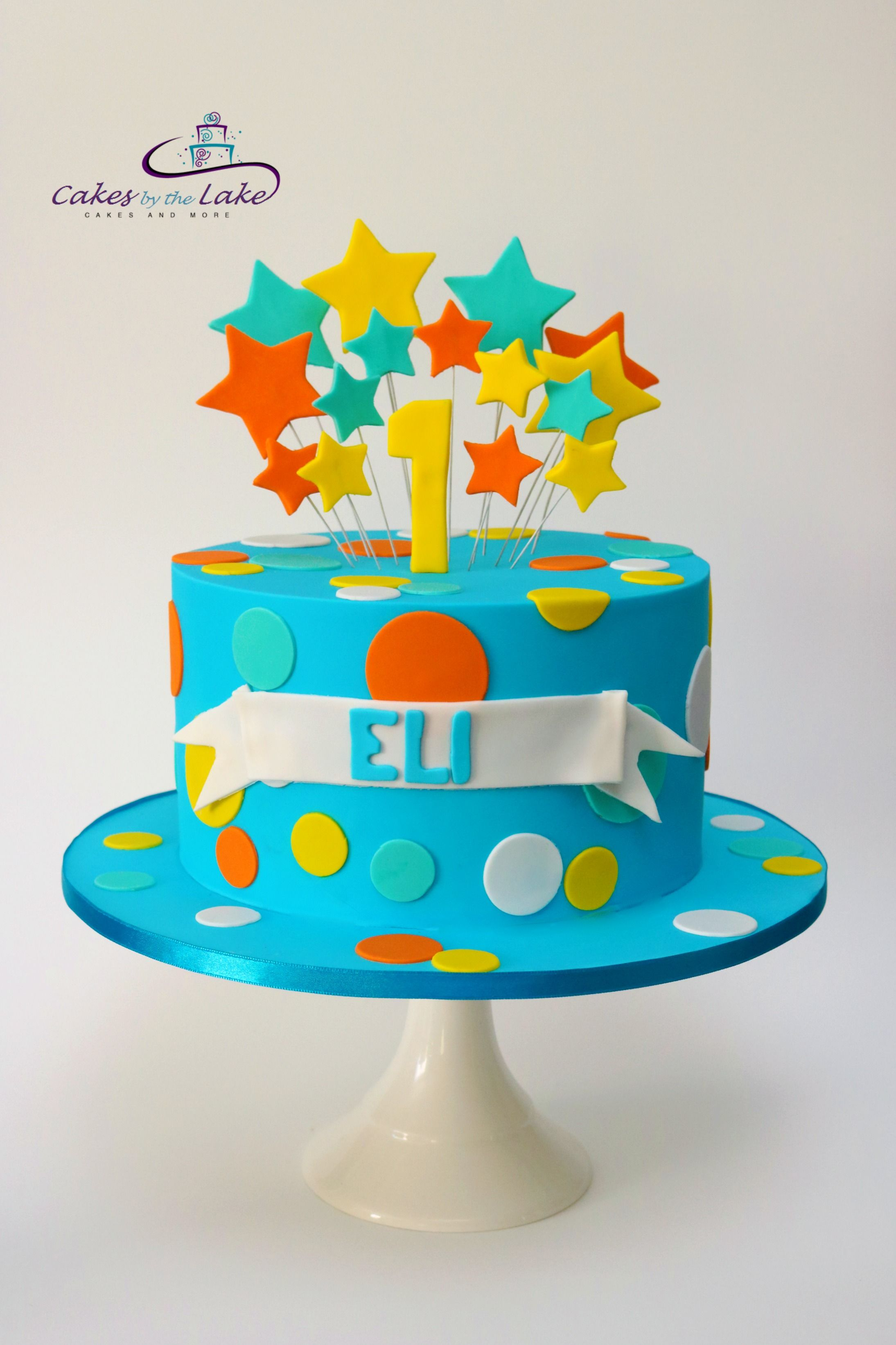 1st Birthday Cake We Created This Colourful Egg And Nut Free Caramel