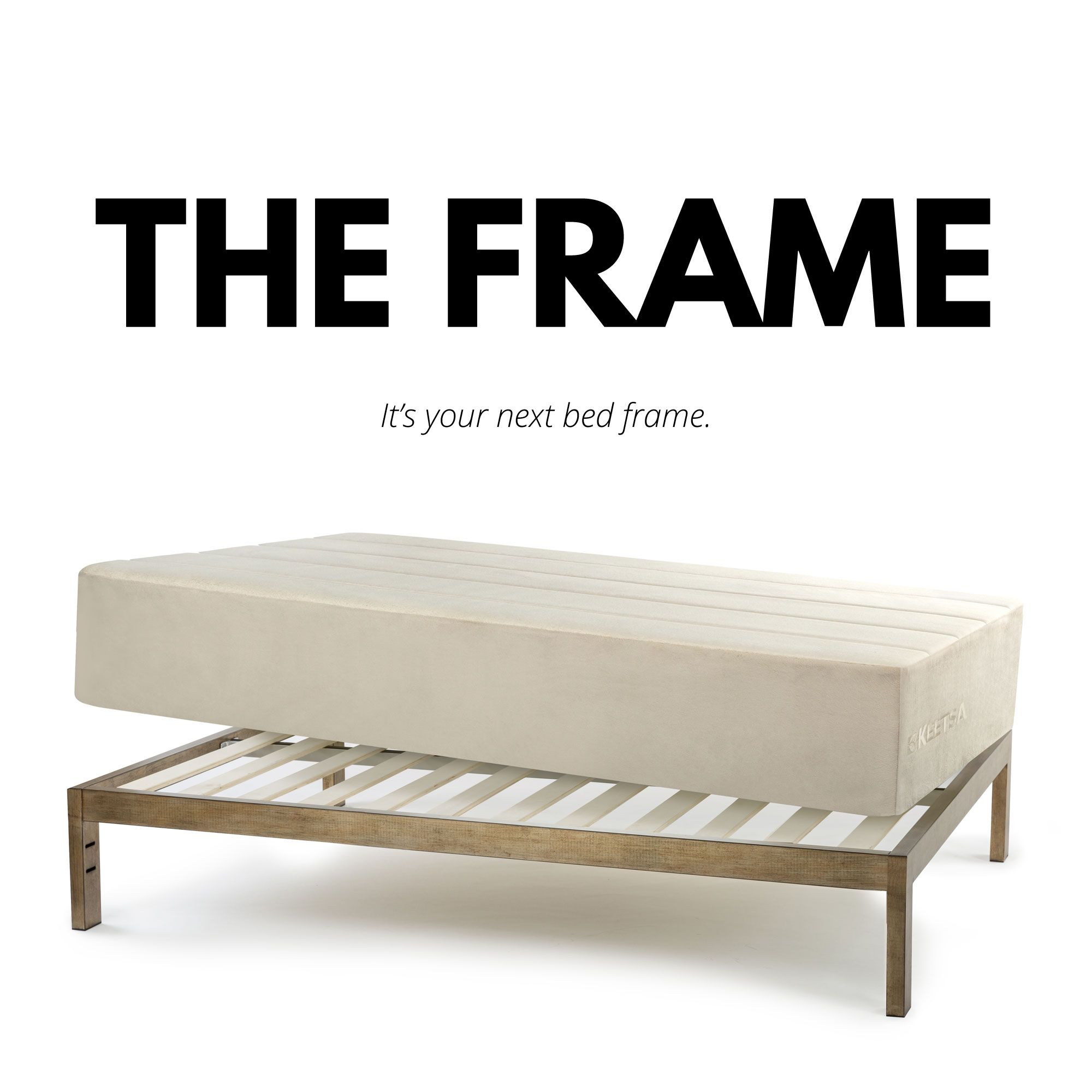 The Frame Gold Brushed Steel Bed Frame Twin 39 Bed Frame