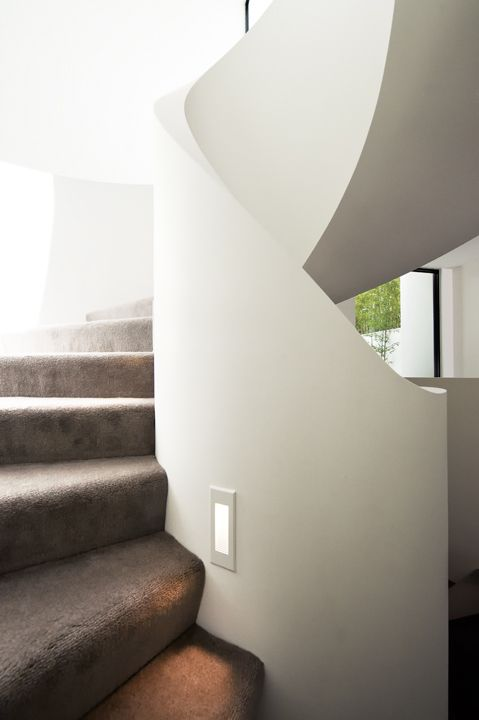 Ribbon Stair | Feature | Architecture | Design | Plaster | Spiral | Carpet  | MDF