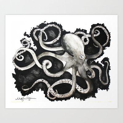 Octopus+Ink+Art+Print+by+Meghann+Chapman+-+$16.64