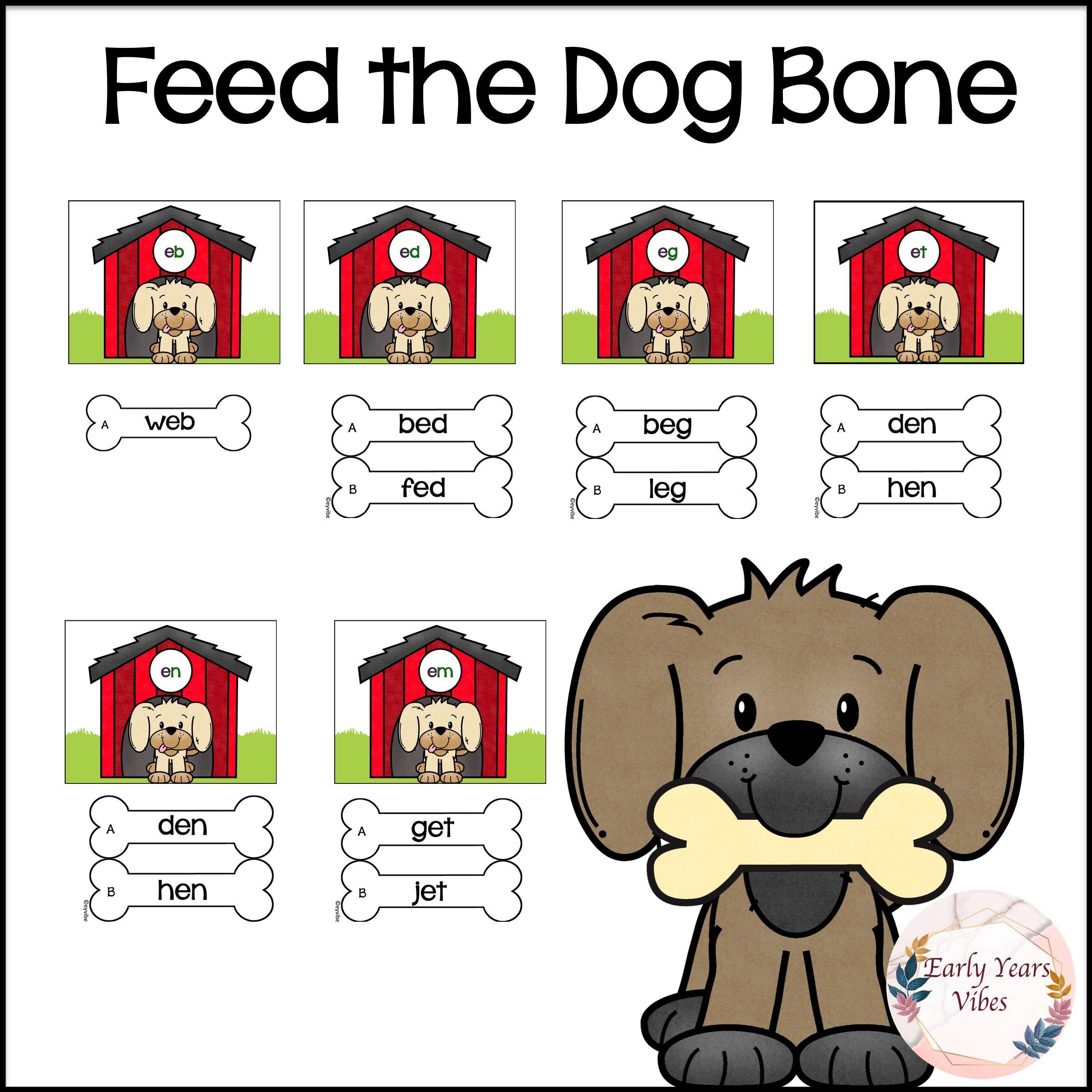 Feed The Dog A Rhyming Bone