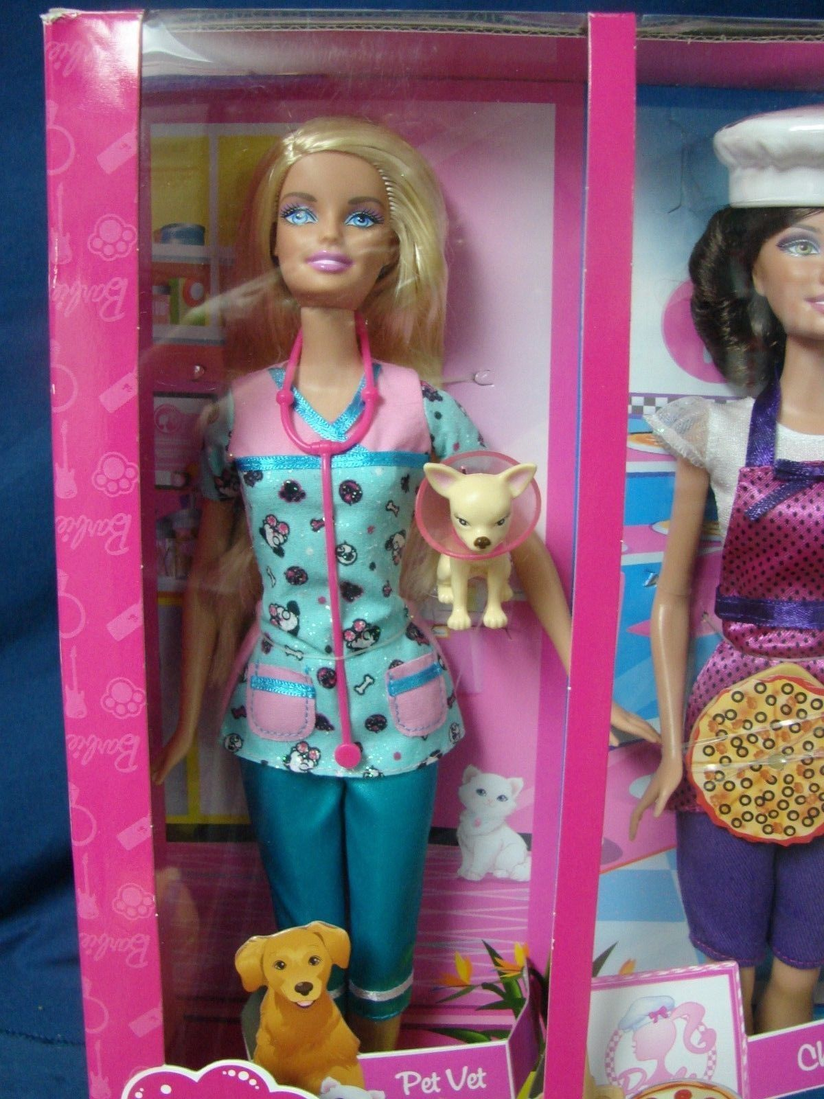 2010 Barbie I Can Be Career 4 Doll Playset Pet Vet Chihuahua