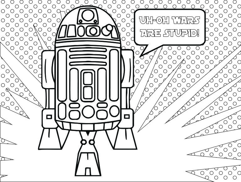 Artherapie.ca: Star Wars Fall of the Resistance Coloriage R2D2 ...