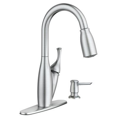 Moen Kitchen Faucet 87032SRS Kendall Stainless Steel One ...