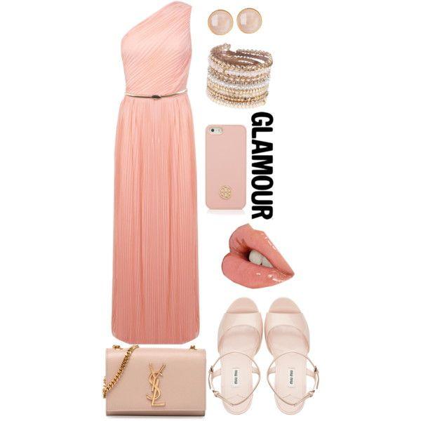 Glamour by reyna-marie on Polyvore featuring polyvore fashion style Miss Selfridge Miu Miu Yves Saint Laurent Saachi ALDO Tory Burch