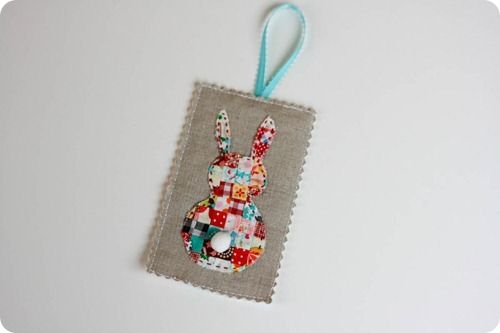 patchwork bunny ornament (make a table runner or something else instead)